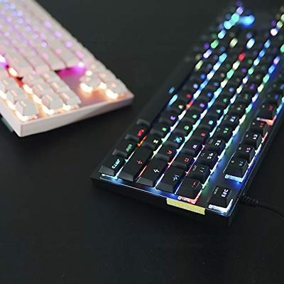 MOTOSPEED Gaming Keyboard Rainbow Backlit 87 Keys &