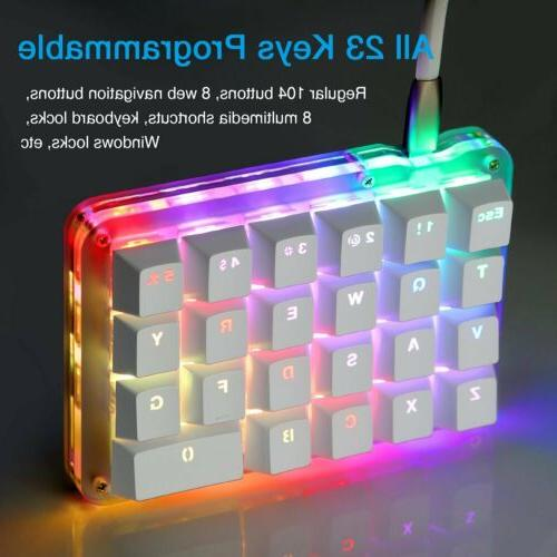 Programmable Mechanical Gaming Keyboard Keypad RGB LED Blue Switches