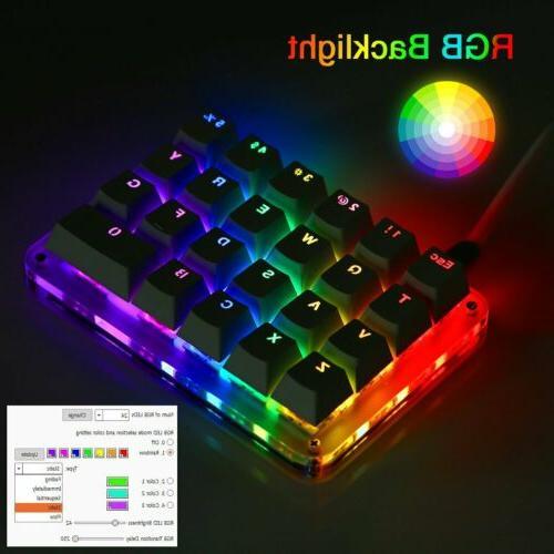23 Macro Keypad Gaming Keyboard RGB Switches