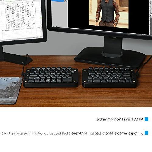 Koolertron Programmable Keyboard, Programmable Ergonomic Keypad, Macro