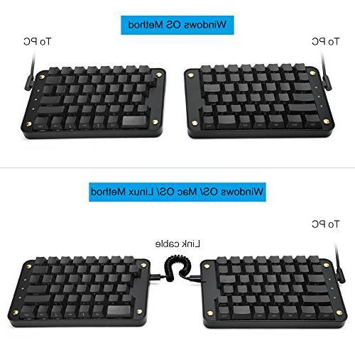 Koolertron Programmable Split Keyboard, Programmable Keypad, Macro Keys