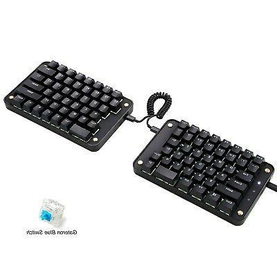 programmable split mechanical keyboard all 89 keys