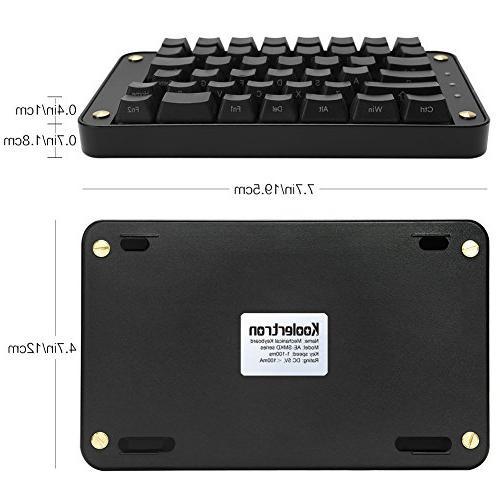 Koolertron Split Keyboard, Programmable Ergonomic Keypad, Macro Keys