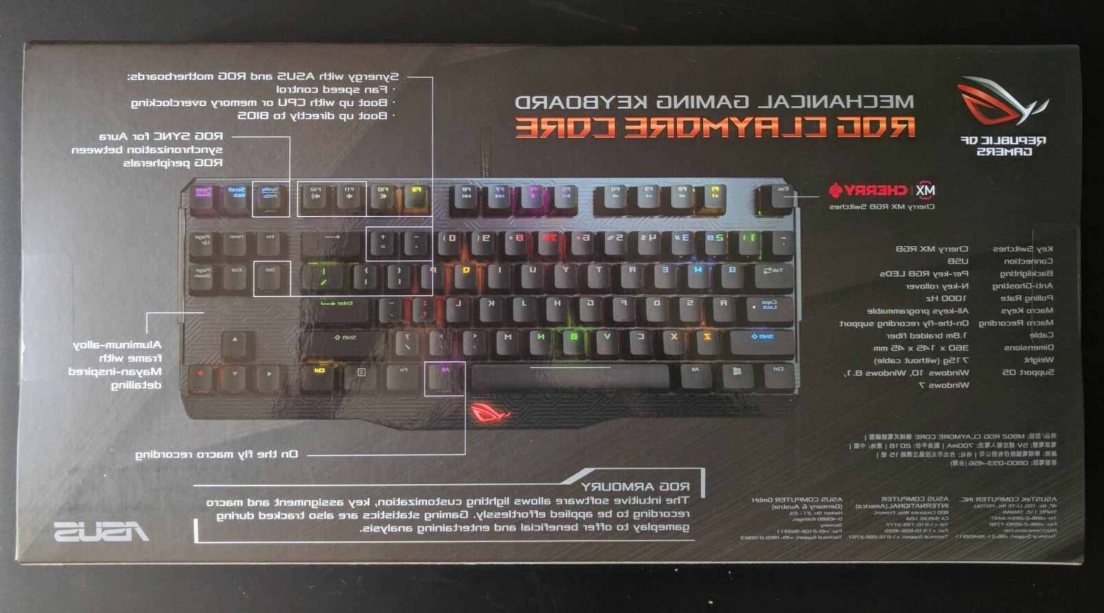 CORE & MX RGB Red Mechanical Keyboards