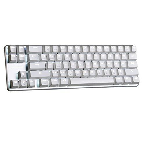 Qisan Gaming Wired Keyboard Cherry Brown keyboard 68-Keys Mini Design