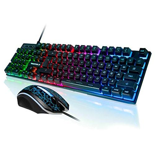 rainbow backlit gaming keyboard mouse
