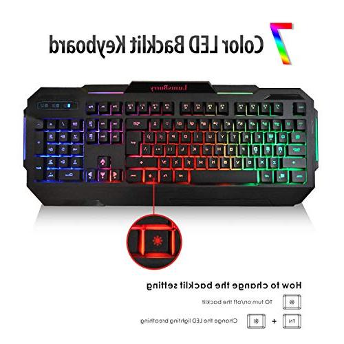 LumsBurry Backlit USB Gaming Keyboard and Control