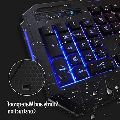 LumsBurry Rainbow LED Backlit USB Office Keyboard with