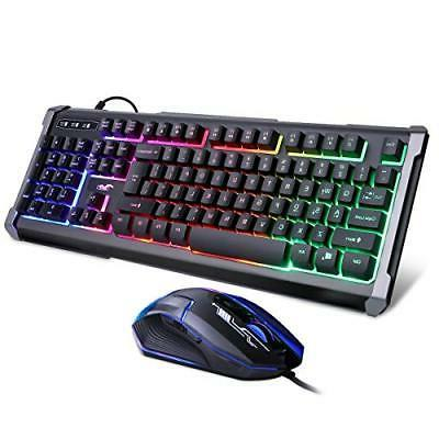 rainbow led backlit mechanical feeling gaming keyboard