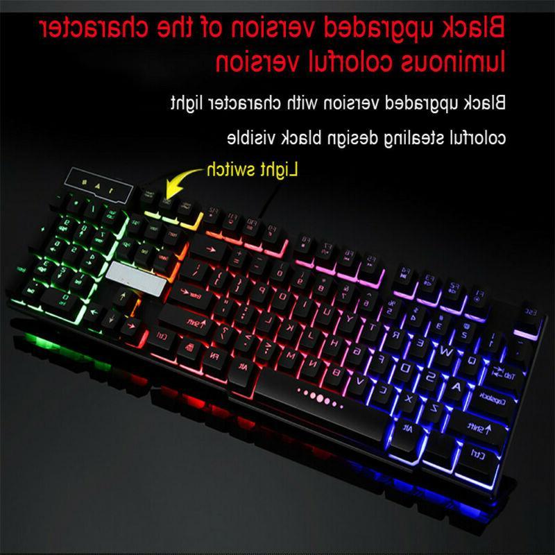Rainbow USB Wired Mechanical Feeling Gaming