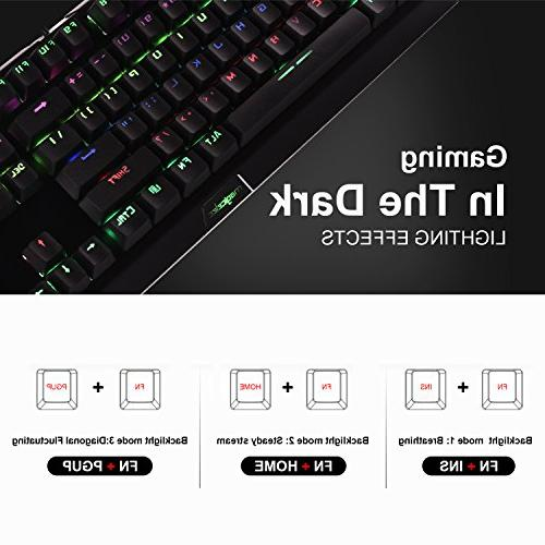 Rainbow Mechanical USB 104 Keys-Clicky LED with 9 for