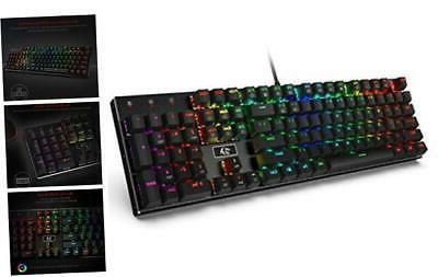rgb led backlit wired mechanical gaming keyboard
