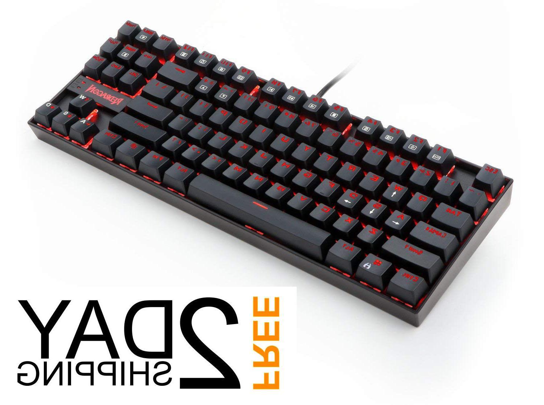 redragon kumara led mechanical gaming keyboard black