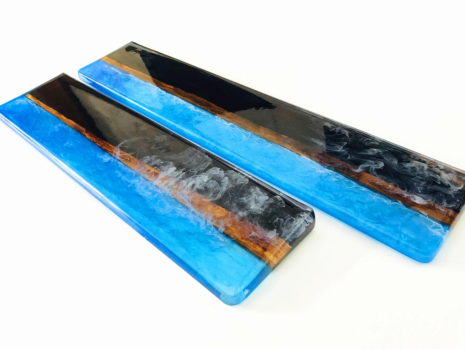 87/104 Resin Wood Rest Wrist Pad for Mechanical Keyboard