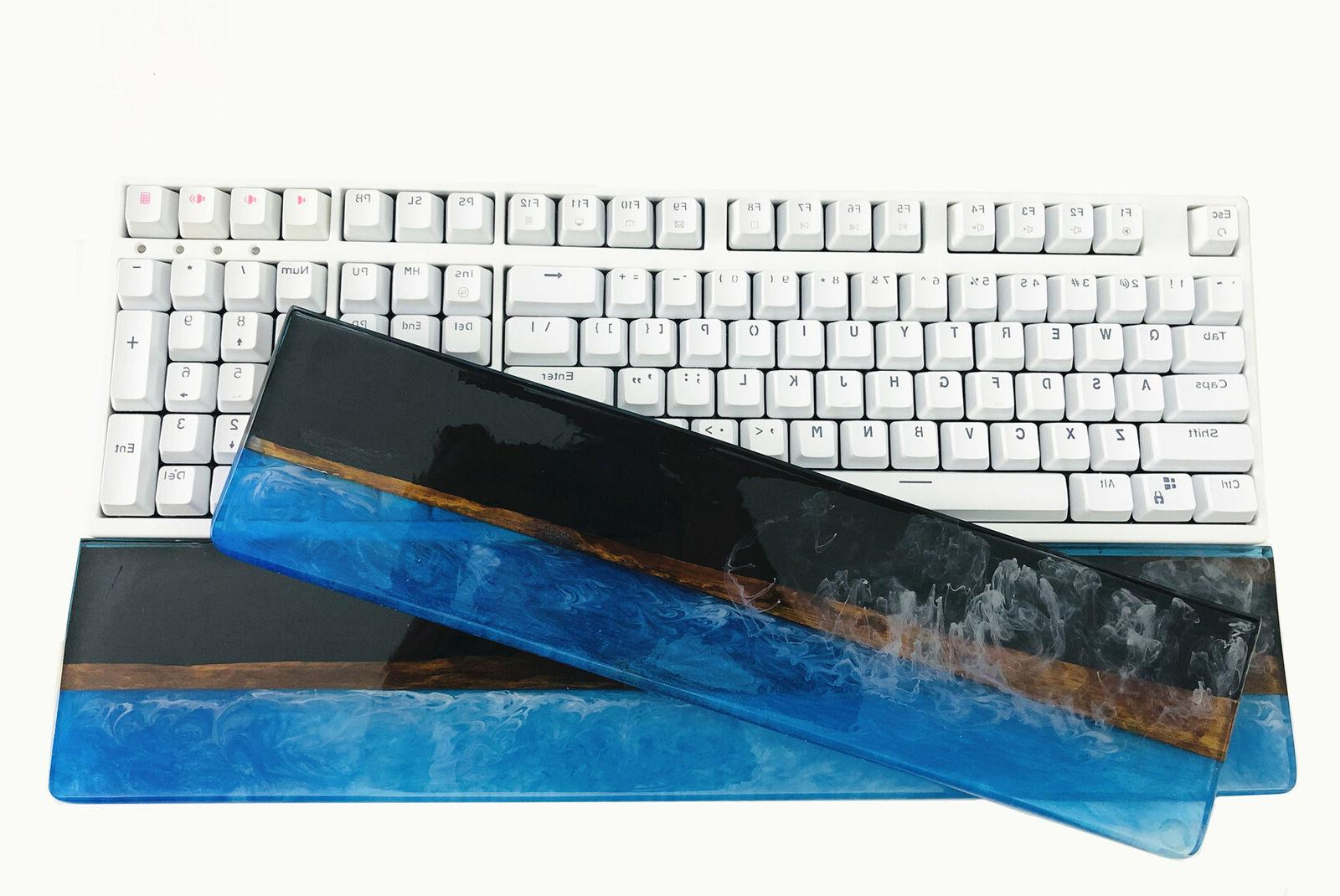 87/104 Resin & Wood Wrist Wrist Pad for Mechanical Keyboard