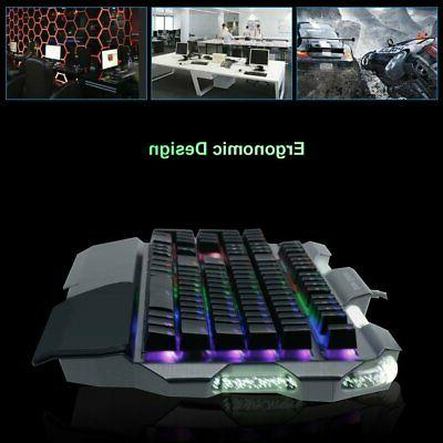 RGB 7 Colour Gaming Keyboard RGB Mac WF