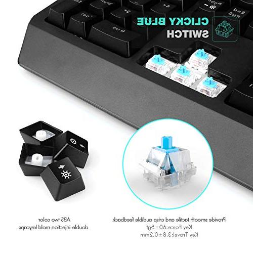 Havit RGB Gaming Blue 104 Keyboards Volume Control Holder for Games