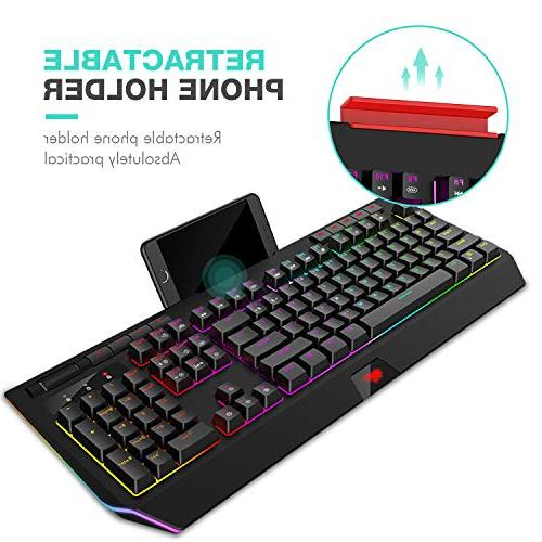 Havit Gaming 104 Keys Keyboards with Volume Control Holder