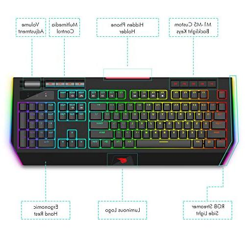 Havit Gaming Switch 104 Keyboards Volume Phone for PC Games