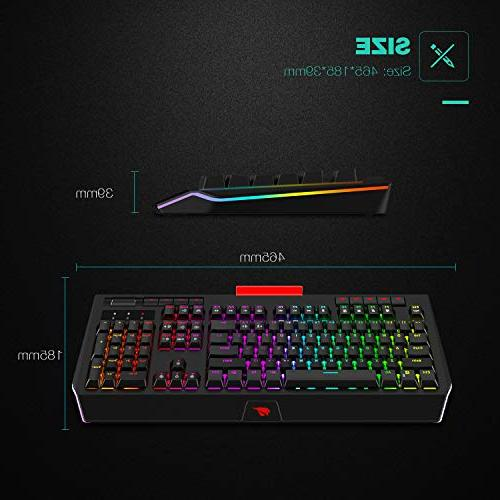 Havit RGB Backlit Mechanical Gaming 104 Keyboards Volume Control Phone Holder for Games