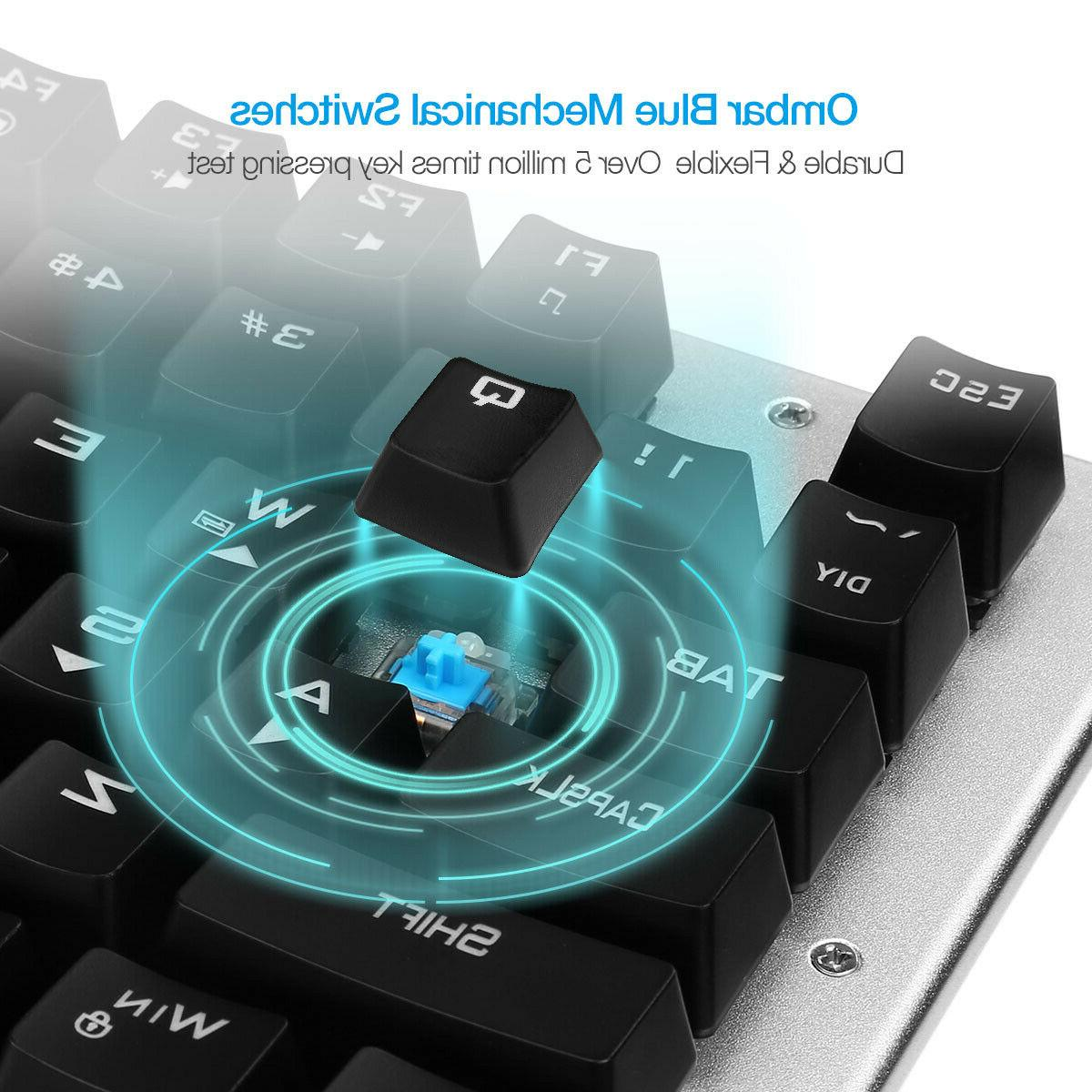 Mechanical RGB Backlit Gaming Keyboard Blue