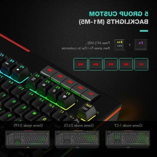 Havit RGB Mechanical Keyboard Switch Backlit 104