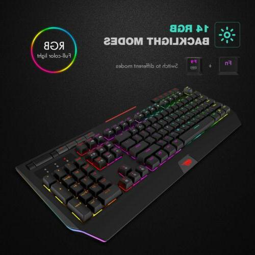 Havit RGB Mechanical Gaming Keyboard Switch Backlit Wired 104 Keys