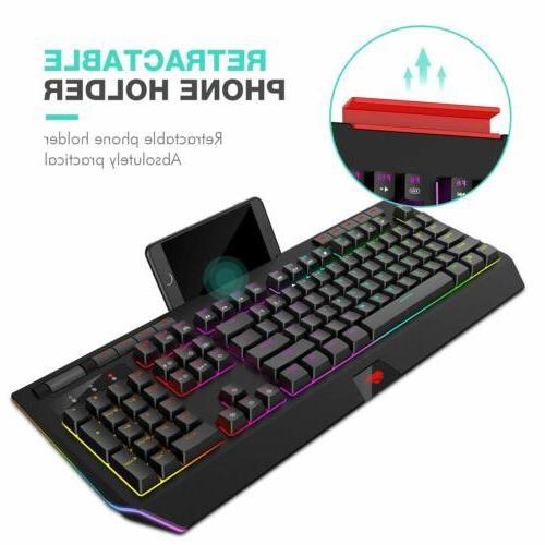 Havit Mechanical Keyboard Blue Switch Backlit 104