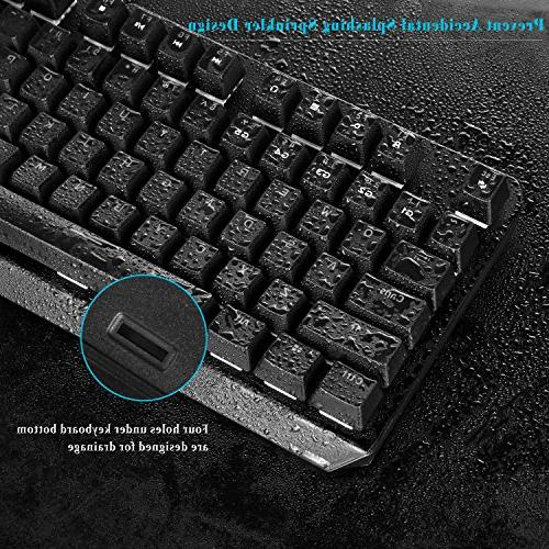 RGB Mechanical Keyboard, Wired Mechanical with Switches Anti-Ghosting Fully Programmable For PC&Mac Gamers and