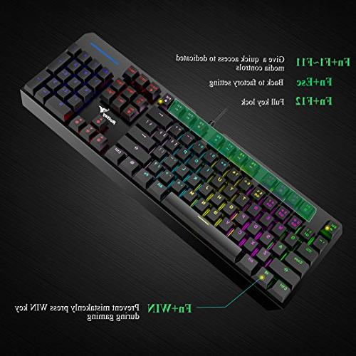 RGB 16.8 Wired Mechanical Keyboard with For Typist