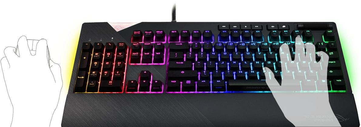 ASUS Strix RGB Mechanical Gaming Cherry MX,KBA-ROG-FLARE-BRN