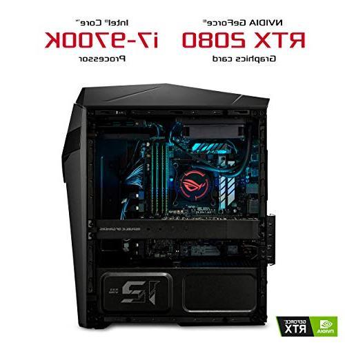 ASUS Gaming Desktop, 9th Gen NVIDIA GeForce RTX 8GB, 16GB DDR4 256GB + 2TB HDD, 10 - GL12CX-DH781, Black/Grey