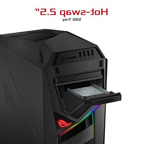 ASUS ROG Strix Gaming Desktop, Gen Core NVIDIA 8GB, 256GB + Windows 10 - GL12CX-DH781, Black/Grey