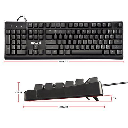 LASITI Semi Keyboard, 104 3 Colors Backlit USB Wired with 19