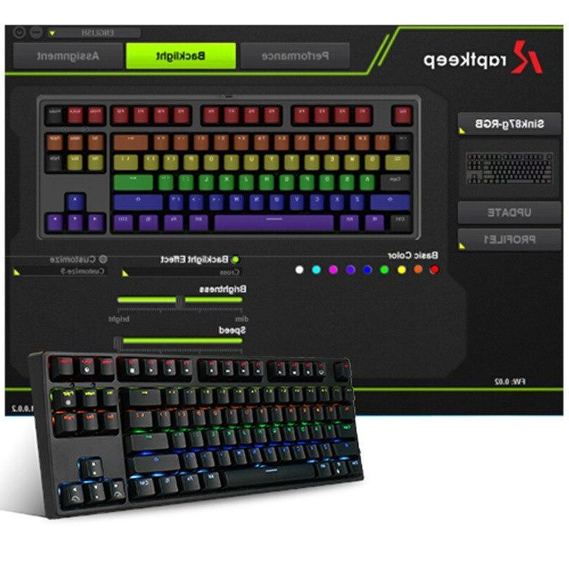 RK Wireless Gaming Switch RGB Backlight <font><b>PC</b></font> Laptop MMO