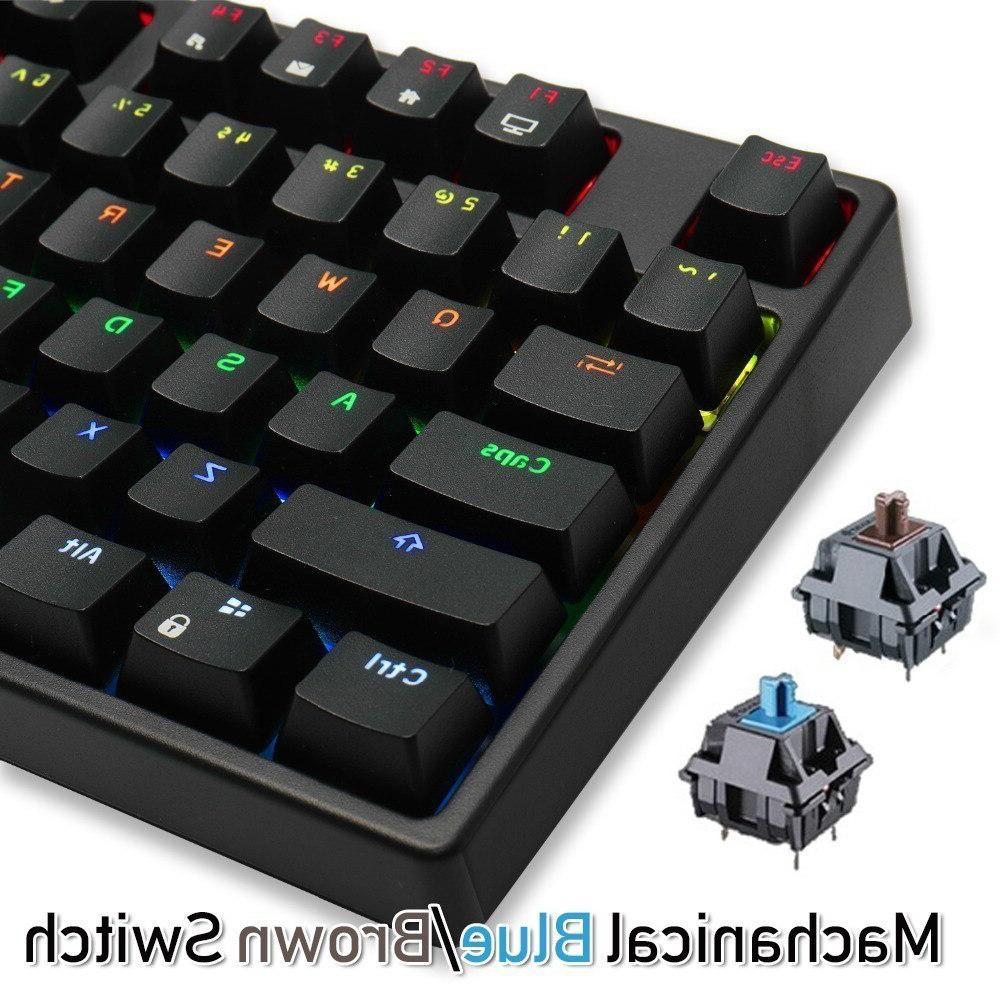 RK Sink87G Wireless <font><b>Mechanical</b></font> Gaming <font><b>Keyboard</b></font> Blue Brown Switch RGB LED <font><b>PC</b></font>