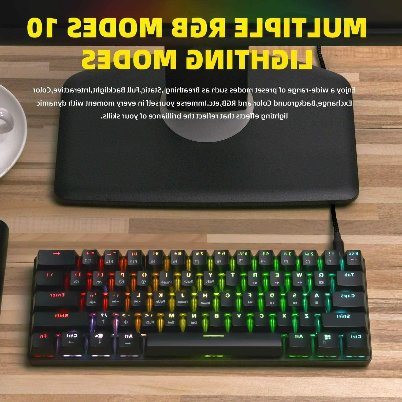 Smart 60% Ultra Compact Mechanical Gaming Keyboard RGB