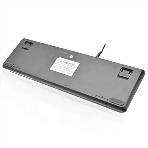 Alloet SUNROSE T600 Wired Blue Switch Keyboard Waterproof 104 Keys 6-Color RGB Backlight Keyboard for Laptop PC