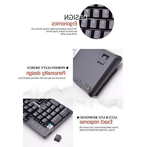 Alloet SUNROSE Wired Blue Mechanical Keyboard 6-Color Backlight Keyboard PC