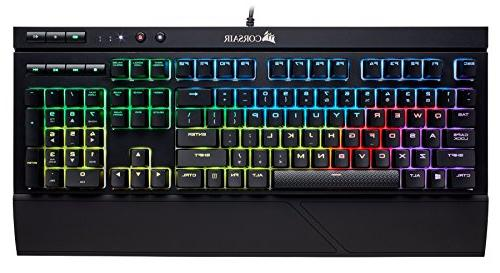 CORSAIR Gaming Backlit LED, and Resistant - Linear Quiet - Red