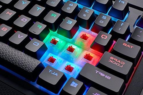 CORSAIR Gaming Backlit Resistant - Linear Red
