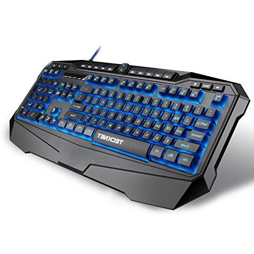 tecknet gryphon led illuminated programmable gaming keyboard