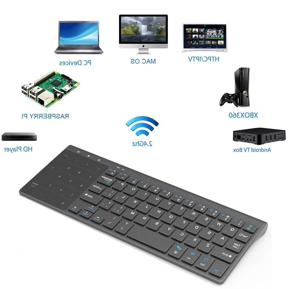 Thin Wireless <font><b>Keyboard</b></font> Number Touchpad Numeric Keypad for Android windows