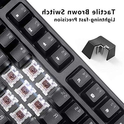 Key Mechanical Keyboard with Brown Typists,