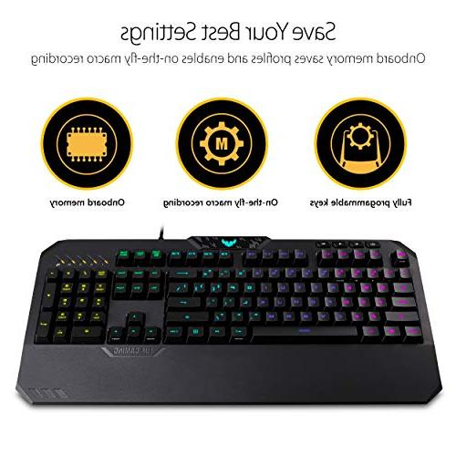 ASUS Gaming Box Gaming Keyboard Mouse Mechanical Membrane and Lighting
