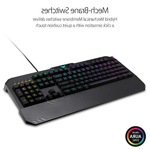 ASUS Mechanical Keyboard with Memory, Media and Aura RGB Lighting