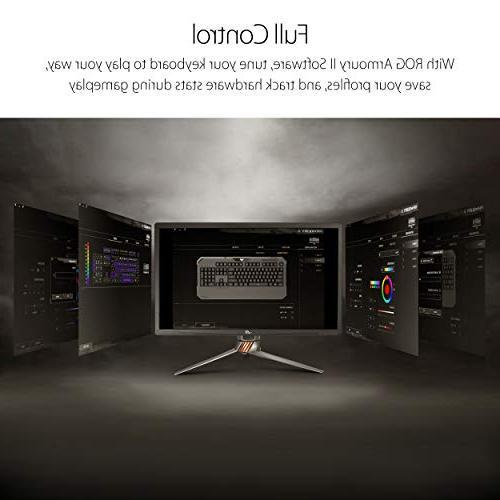 Mechanical Membrane RGB Gaming Keyboard with Memory, Aura Sync RGB