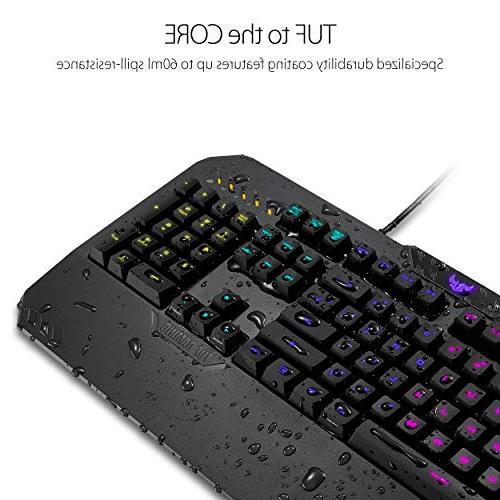 ASUS Gaming K5 Mechanical Keyboard with Programmable Onboard Memory, Media Controls Aura RGB