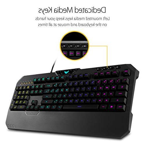 ASUS TUF K5 Mechanical RGB Keyboard with Programmable Memory, Aura Sync RGB