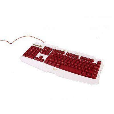 NEW Computer Keyboard Mechanical Led Light Backlit